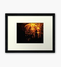 """COLONIAL GOVERNOR PALACE FIREWORKS"" Framed Print"