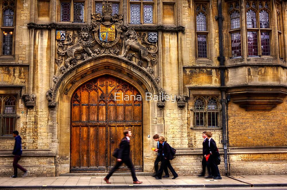 Gentlemen and school boys walking in Oxford by Elana Bailey