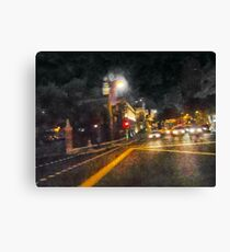 The Dark Streets of Gotham City Canvas Print