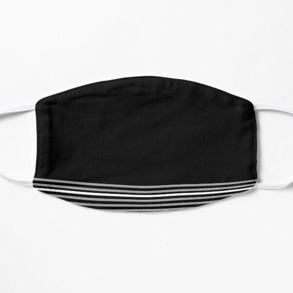 Black and Stripe Flat Mask