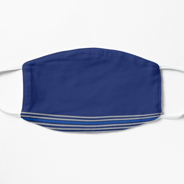 Blue and Stripe Flat Mask