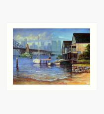 Lavender Bay Boathouse, Sydney Harbour Art Print