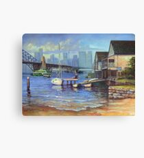 Lavender Bay Boathouse, Sydney Harbour Metal Print