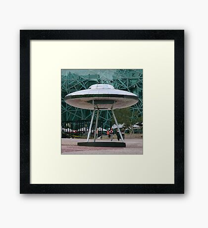 We Have Visitors Framed Print