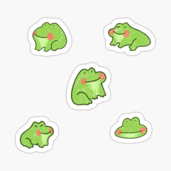 Happy little frogs Sticker