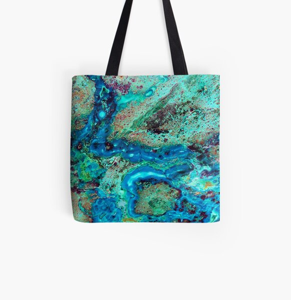 TOTE BAG chrysocolla and calcite