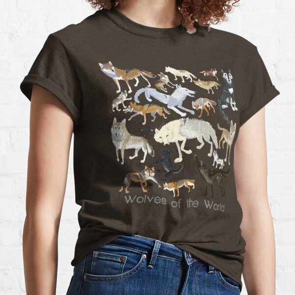 Wolves of the World (Green pattern) Classic T-Shirt