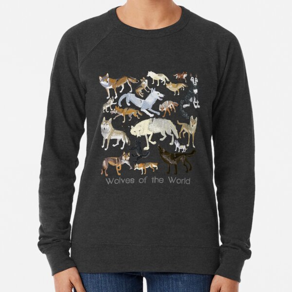 Wolves of the World (Green pattern) Lightweight Sweatshirt