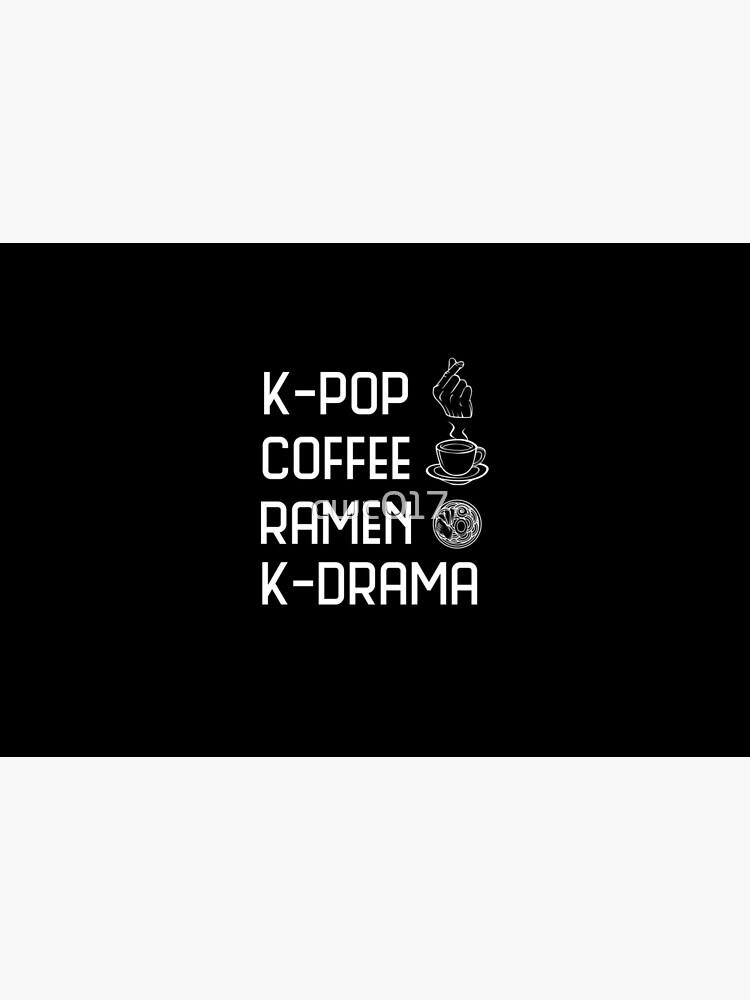 K-Pop Coffee Ramen K-Drama South Korea gift idea by cwc017