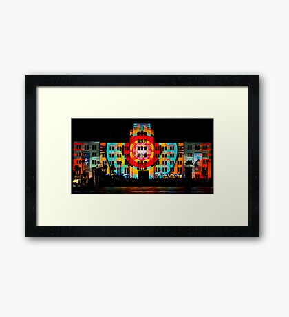 MUSEUM OF MODERN ART | SYDNEY VIVID FESTIVAL Framed Print