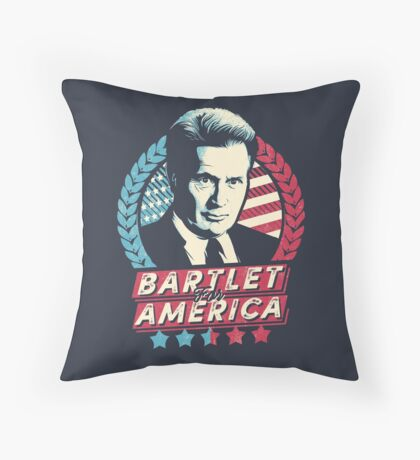 Bartlet for America  Throw Pillow