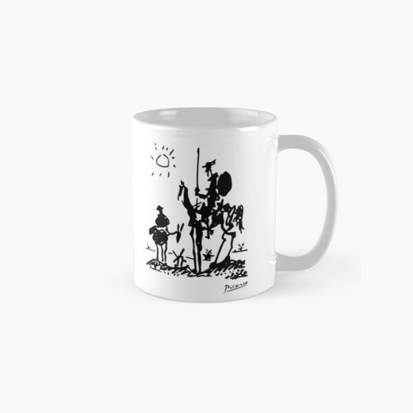 Pablo Picasso Don Quixote 1955 Artwork Shirt, Reproduction Classic Mug