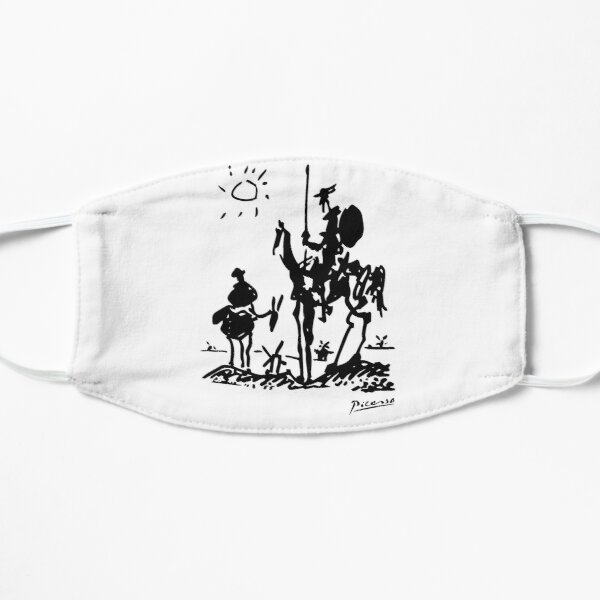 Pablo Picasso Don Quixote 1955 Artwork Shirt, Reproduction Mask