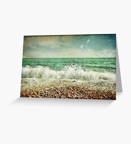 Beside the sea V Greeting Card