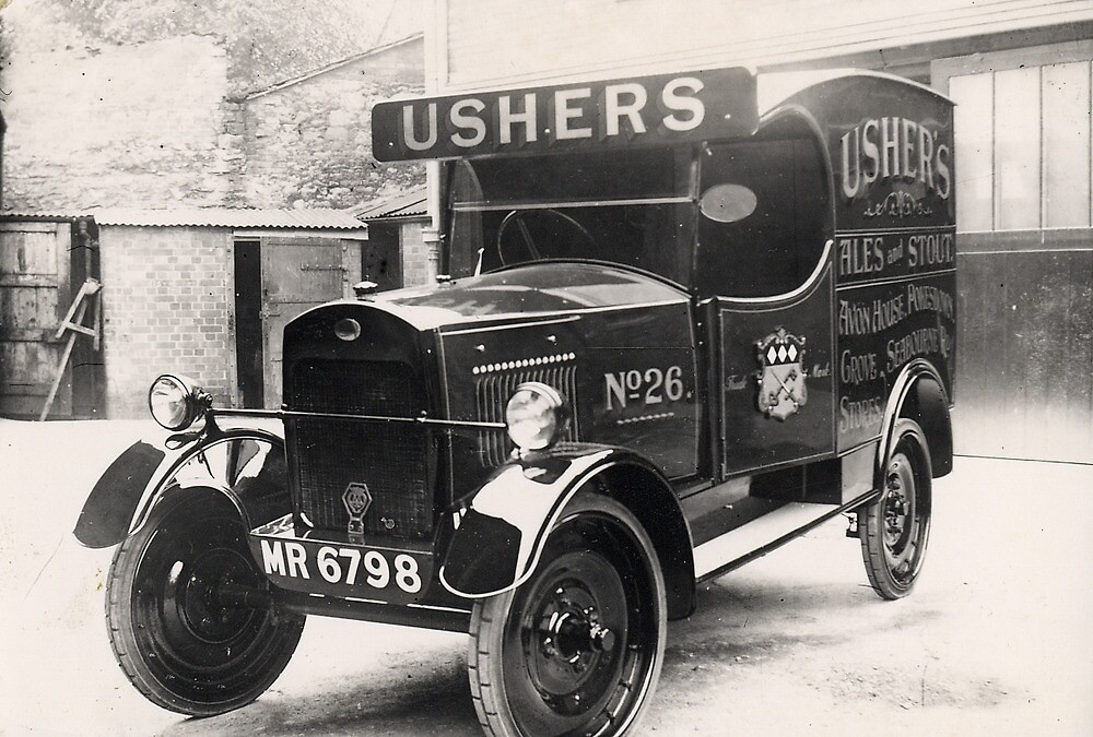 Ushers Brewery Delivery Van by Trowbridge  Museum
