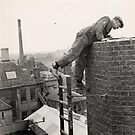 Steeplejack, Trowbridge Factory Chimney by Trowbridge  Museum