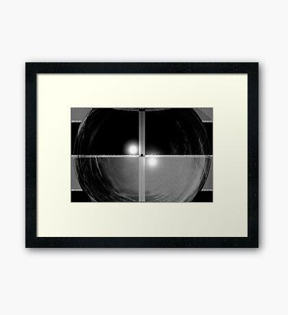 Thoughts in Black and White Framed Print