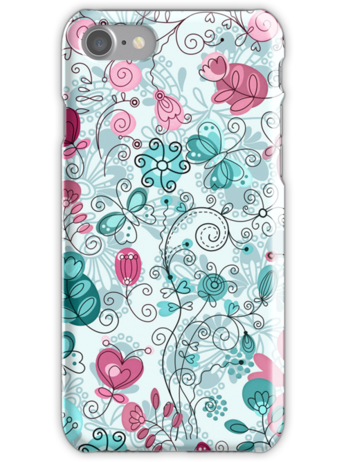 doodle flowers and butterflies by Ancello