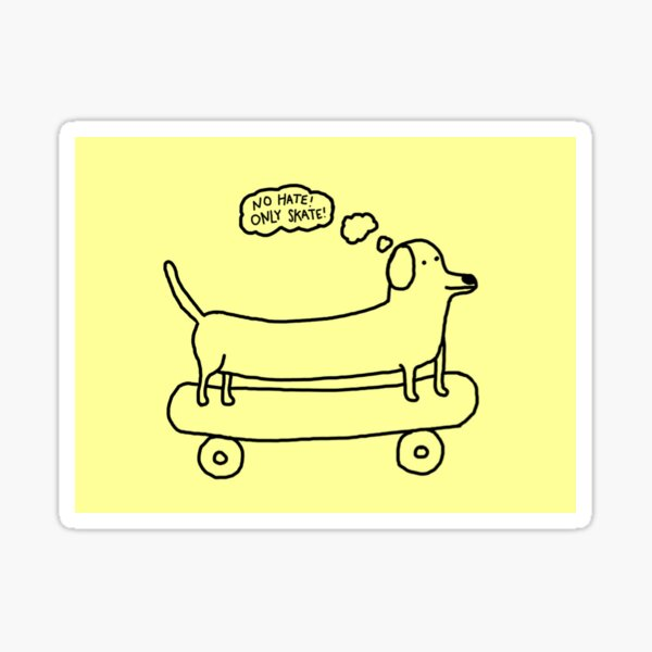 Positive Skater Dog Sticker