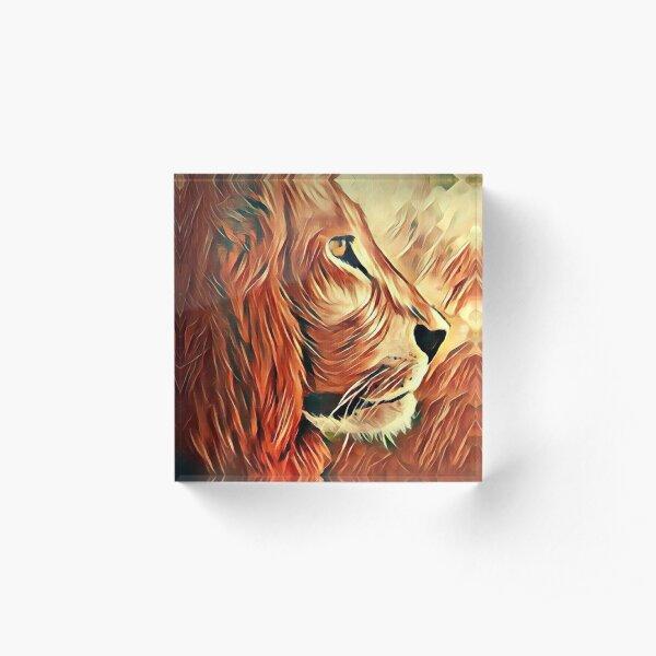 Lion King of Beasts Acrylic Block