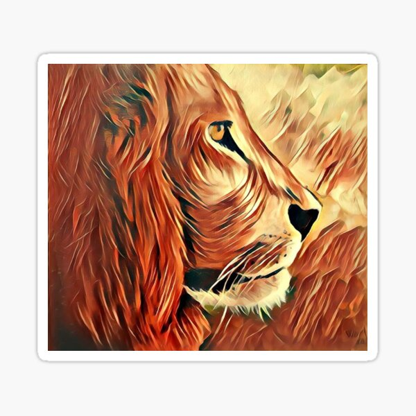 Lion King of Beasts Sticker