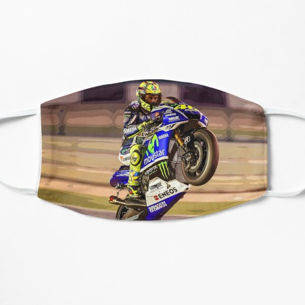 Valentino Rossi making a wheelie 3 Abstract Mask