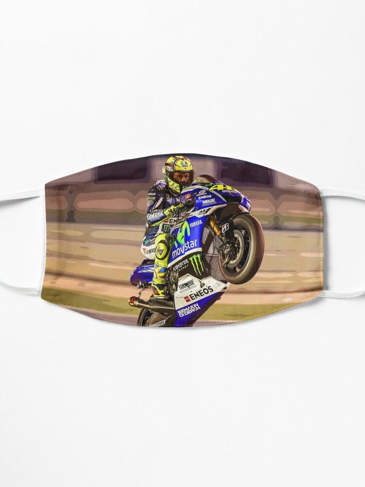 Masque ''Valentino Rossi fait un wheelie 3 Résumé': autre vue