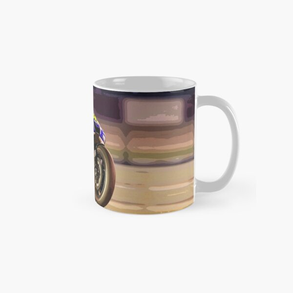Valentino Rossi making a wheelie 3 Abstract Classic Mug