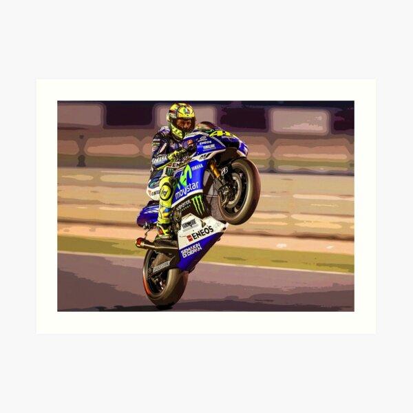 Valentino Rossi fait un wheelie 3 Résumé Impression artistique