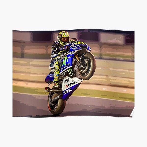 Valentino Rossi fait un wheelie 3 Résumé Poster