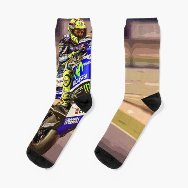 Valentino Rossi making a wheelie 3 Abstract Socks