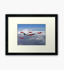 Final Vulcan Flight With The Red Arrows  - 3 Framed Print