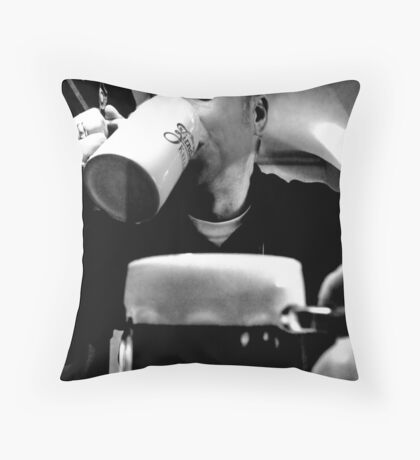 I never drink beer... Throw Pillow