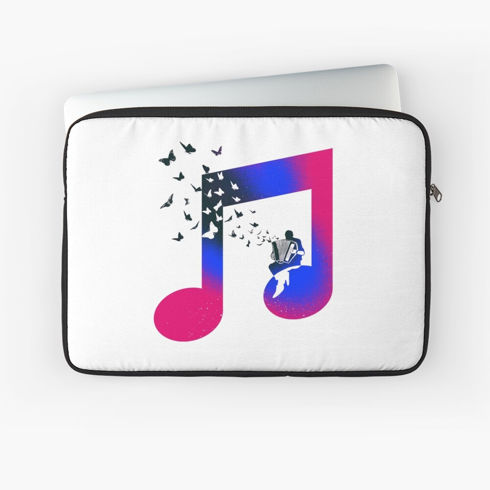 Music Accordion Butterfly Laptop Sleeve