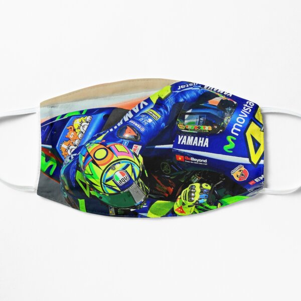 Valentino Rossi hanging in the corner abstract  Mask