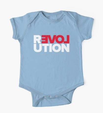 Revolution of love (white text) Kids Clothes