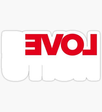Revolution of love (white text) Sticker