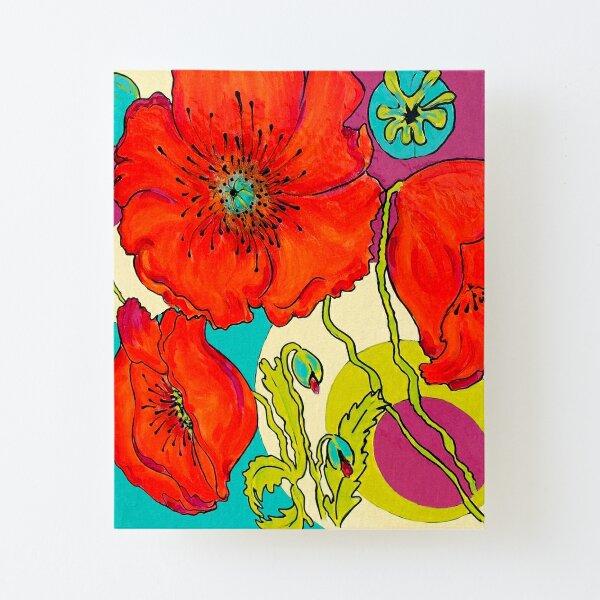 Poppy - Mohnblumen Aufgezogener Druck auf Leinwandkarton