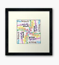 English colour words IV Framed Print