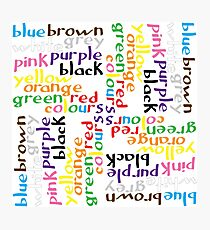 English colour words IV Photographic Print