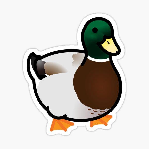 Chubby Mallard Duck Sticker