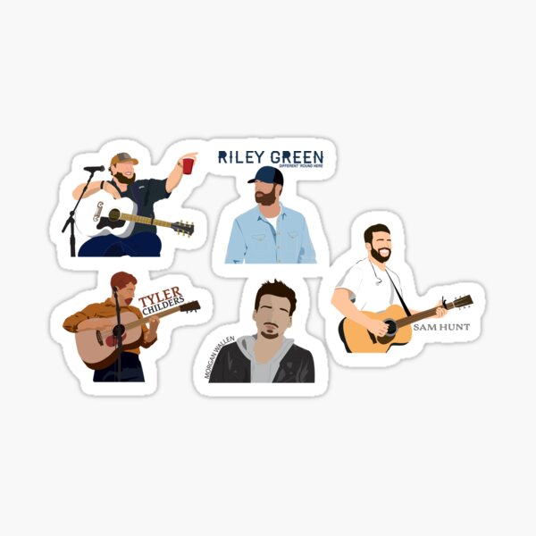 Country Singer Sticker Pack Sticker