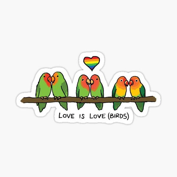 Love is Love(birds) - Queer Zoology Series Sticker