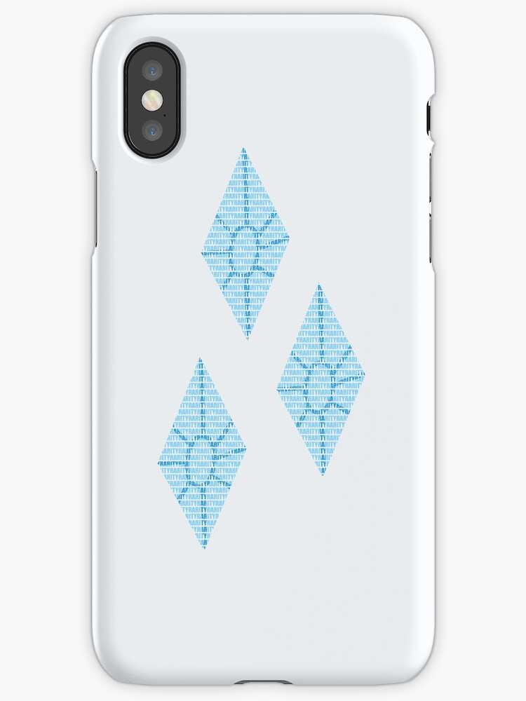 Rarity Text Original iPhone Cover by Alessandro Ionni