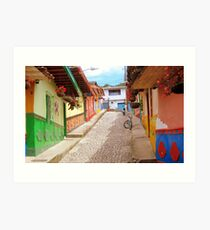 With color and latin flair Art Print