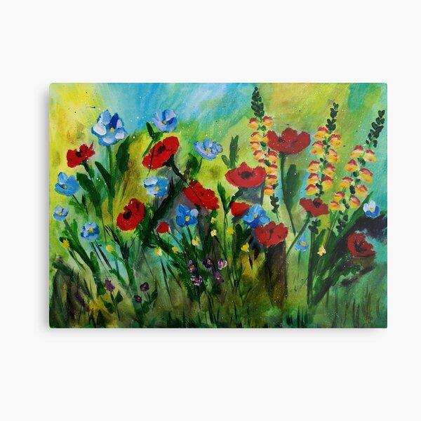 Meadow Summer Flowers Metal Print