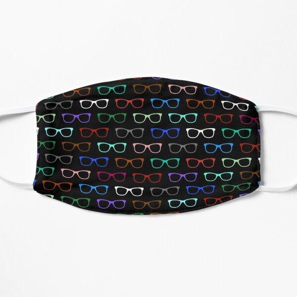 Hipster Colorful Eyeglasses Pattern II Mask