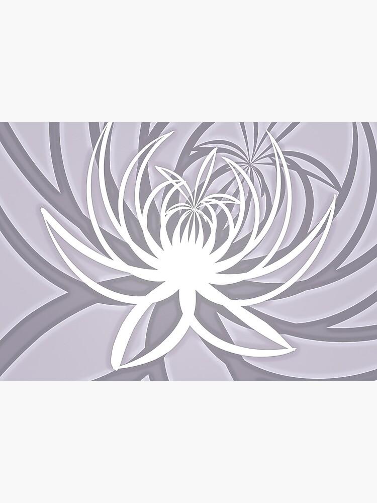 White Lily on Light Rose Quartz Minimalist Flower Print by RootSquare