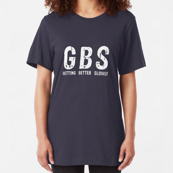 GBS Tee in White Slim Fit T-Shirt