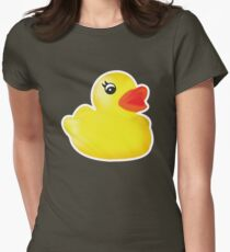 Rubber Ducky [Print   iPhone / iPad / iPod Case & Tshirt] Women's Fitted T-Shirt